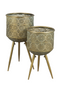 Brass Tripod Plant Stand L | Dutchbone Botanique | DutchFurniture.com