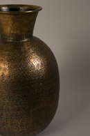 Round Antique Brass Vase | Dutchbone Bahir | DutchFurniture.com