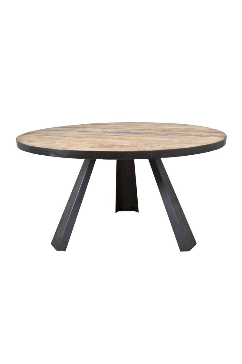 Round Industrial Dining Table | Eleonora Maxwell | dutchfurniture.com