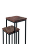 Brown Wooden Nesting Tables (2) | Eleonora Loui | dutchfurniture.com