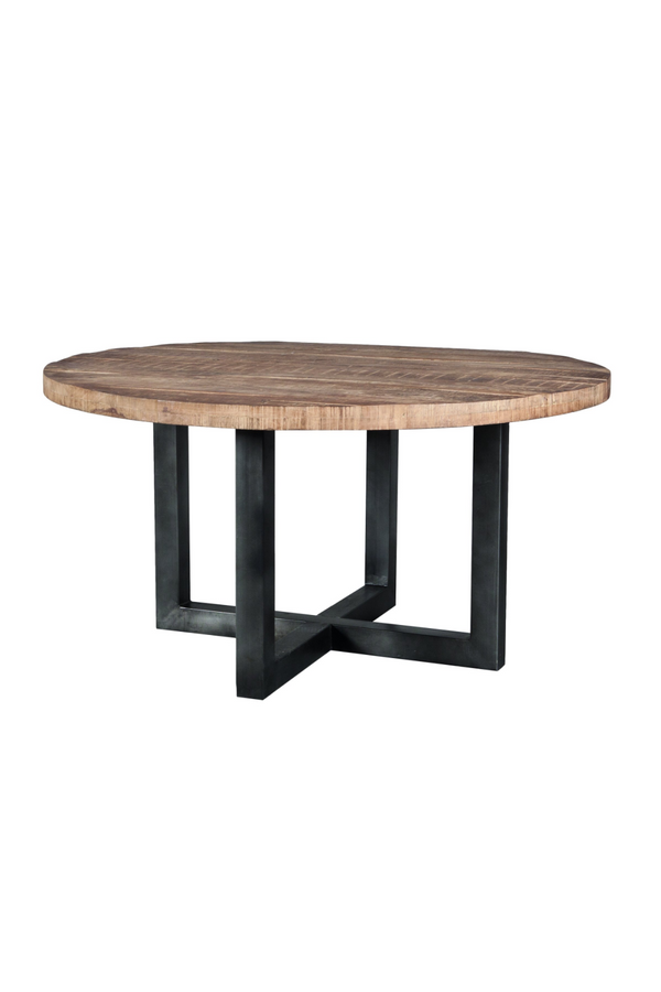Round Wooden Dining Table (L) | Eleonora Mango | dutchfurniture.com