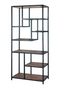 Brown Wooden Multi-Tier Bookcase | Eleonora Soho | dutchfurniture.com