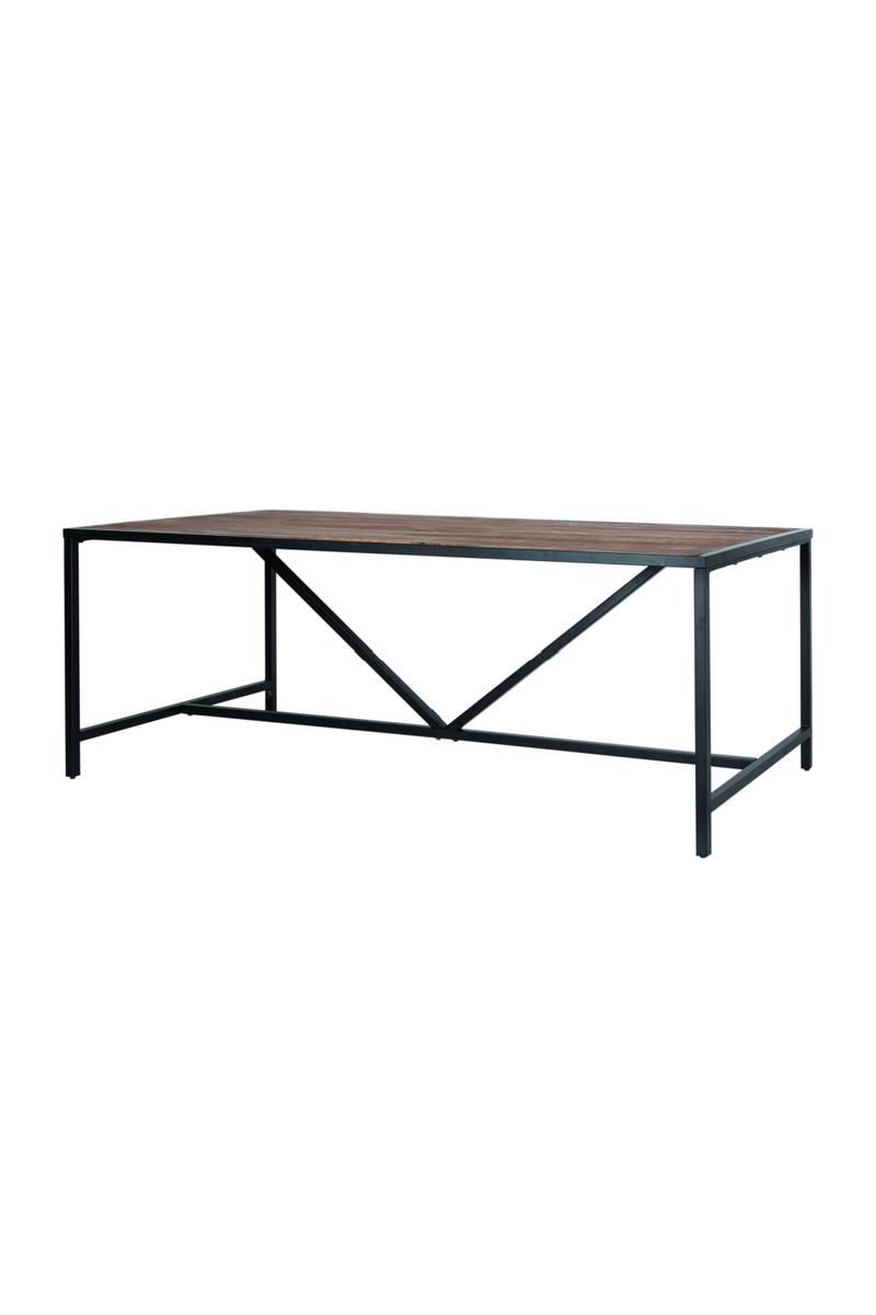 Wire Wooden Dining Table (S) | Eleonora Soho | dutchfurniture.com