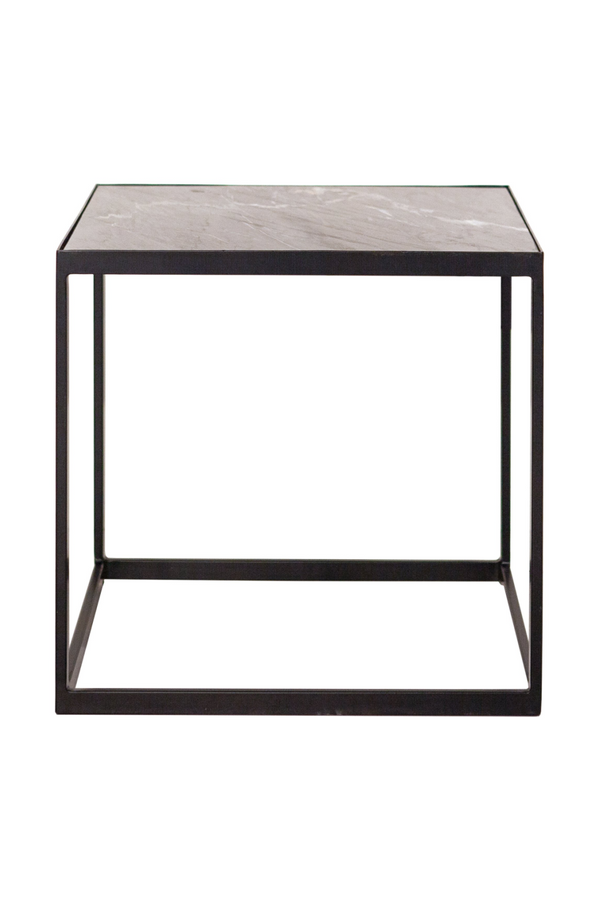 Square Brown Marble Table | Eleonora Marble | dutchfurniture.com