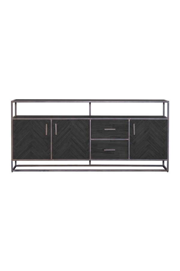 Black Wooden Dresser (L) | Eleonora Hudson | dutchfurniture.com