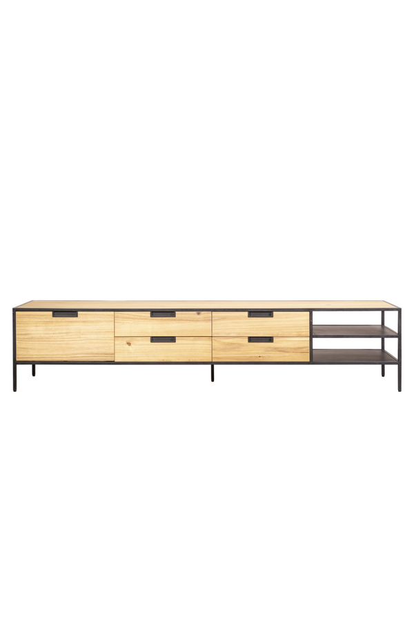 Natural Wood TV Cabinet M | Eleonora Madison | dutchfurniture.com