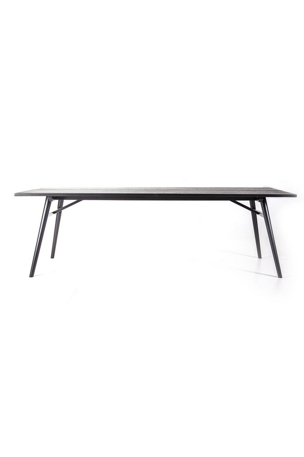 Rectangular Wooden Dining Table M| Eleonora Carbon | dutchfurniture.com