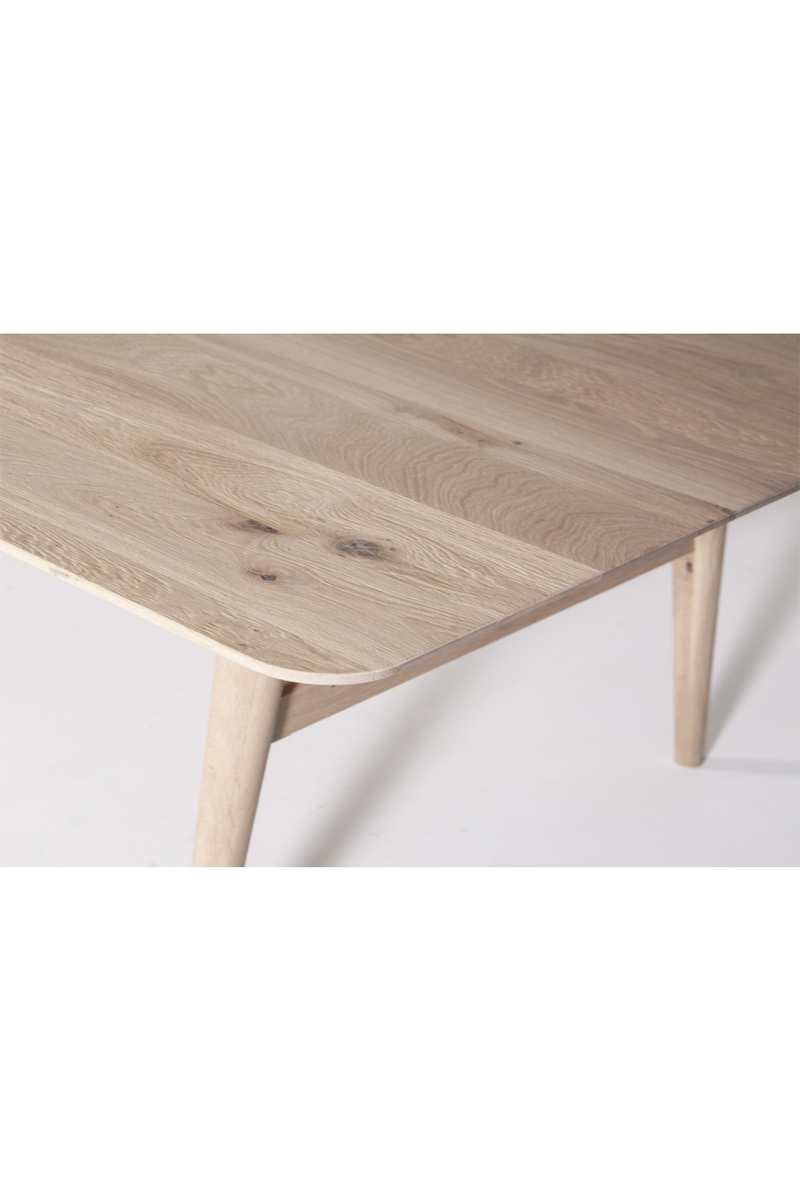 Rectangular Bleached Wood Table L | Eleonora Scandi | dutchfurniture.com