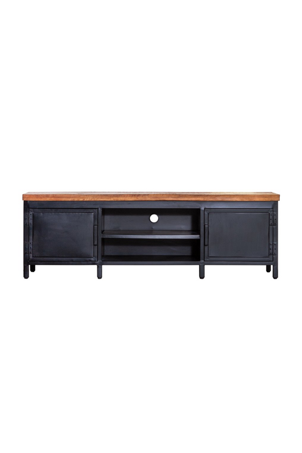 Black Industrial Media Unit M | Eleonora Industrieel | dutchfurniture.com