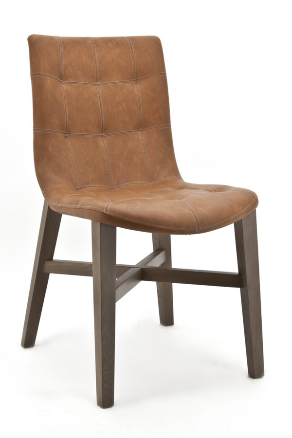 Cognac Leather Dining Chair | Eleonora Neba | dutchfurniture.com