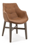 Cognac Leather Dining Armchair | Eleonora Neba | dutchfurniture.com