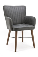 Dark Grey Dining Armchair | Eleonora Jackson | dutchfurniture.com