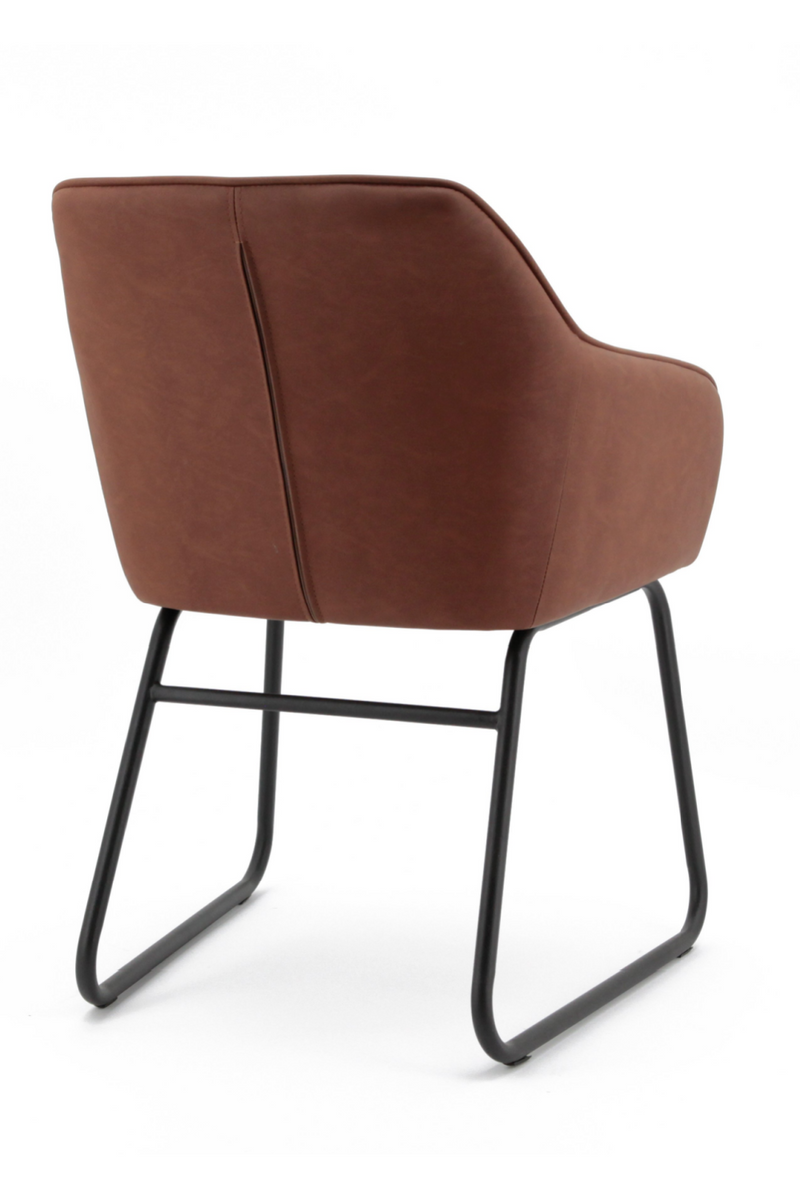 Cognac Leather Dining Armchair | Eleonora Marylin | dutchfurniture.com
