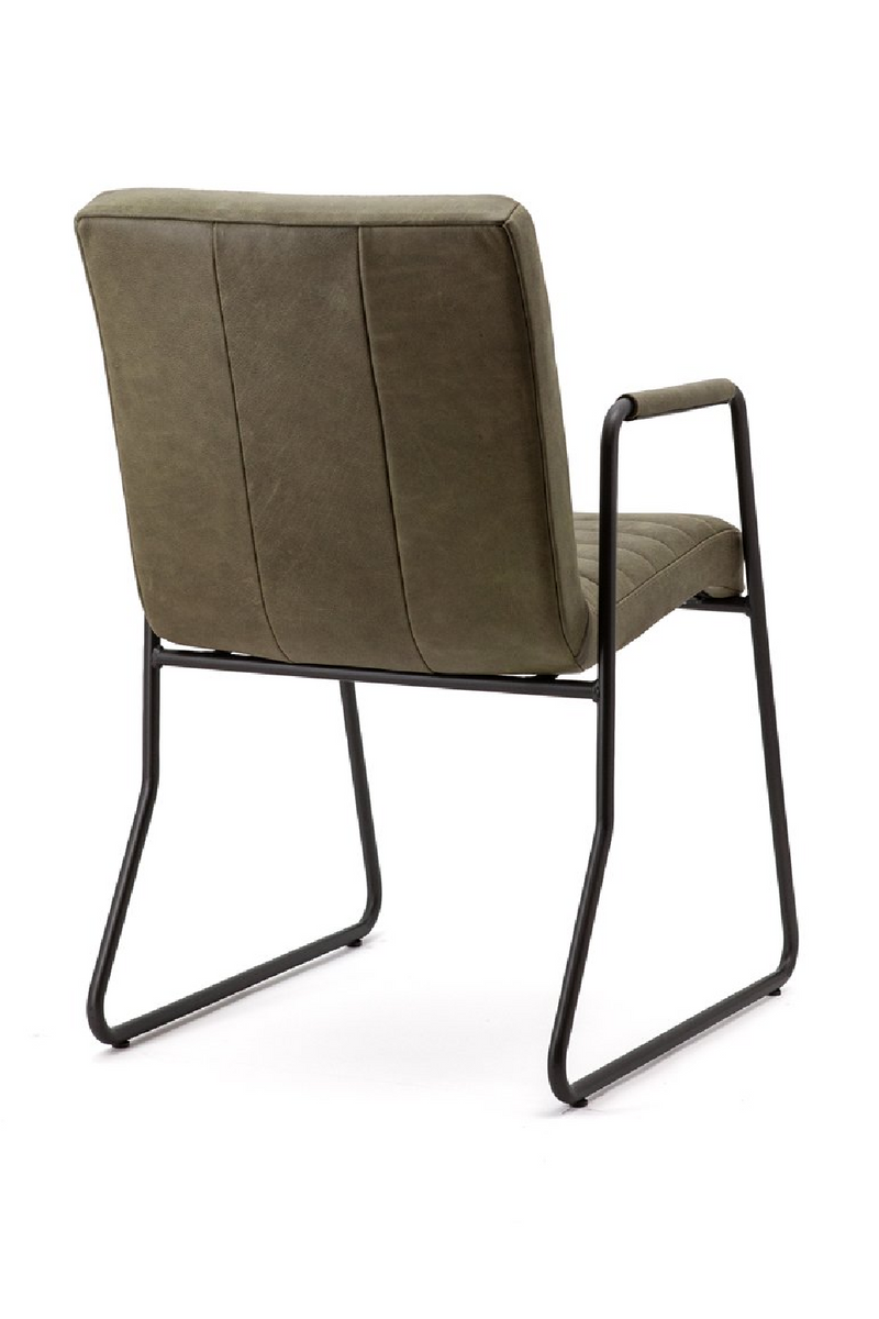 Olive Green Suede Armchair | Eleonora Graham | dutchfurniture.com