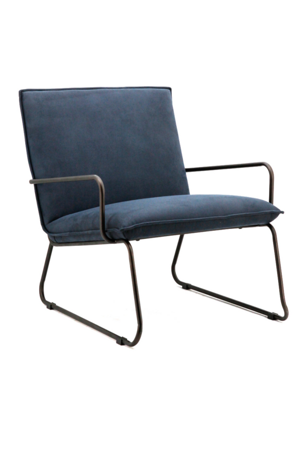 Deep Navy Accent Chair | Eleonora Delta | dutchfurniture.com