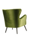 Green Velvet Wingback Armchair | Eleonora Daisy | dutchfurniture.com