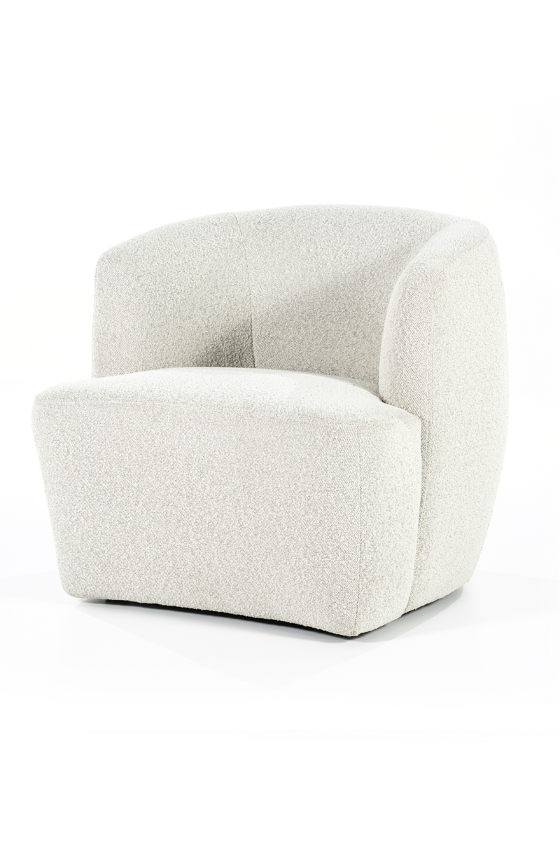 Beige Upholstered Barrel Chair | Eleonora Charlotte | DutchFurniture.com