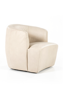 Beige Leather Barrel Chair | Eleonora Charlotte | DutchFurniture.com