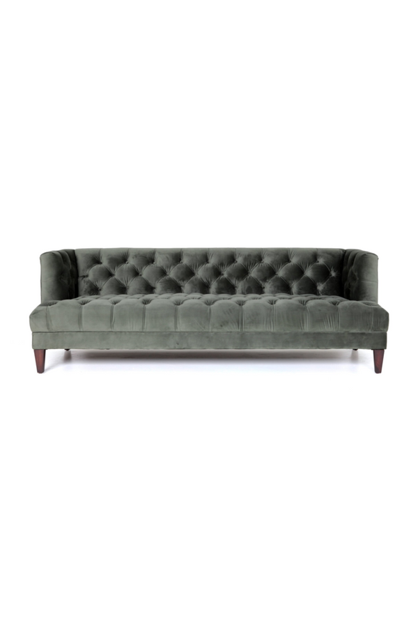 Green Velvet Tufted Sofa | Eleonora Vogue | dutchfurniture.com