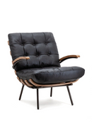 Black Leather Armchair | Eleonora Bastiaan | dutchfurniture.com