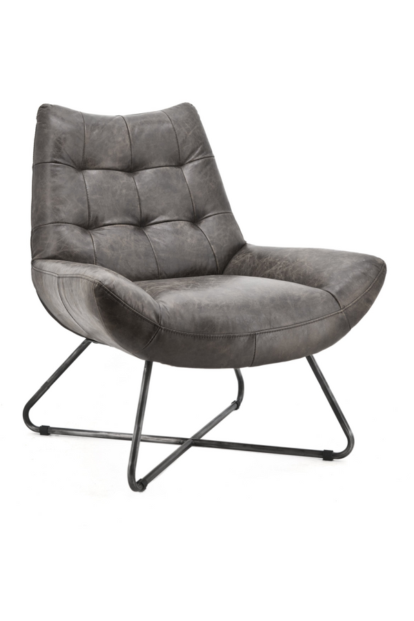 Dark Grey Vintage Armchair | Eleonora Pedro | dutchfurniture.com