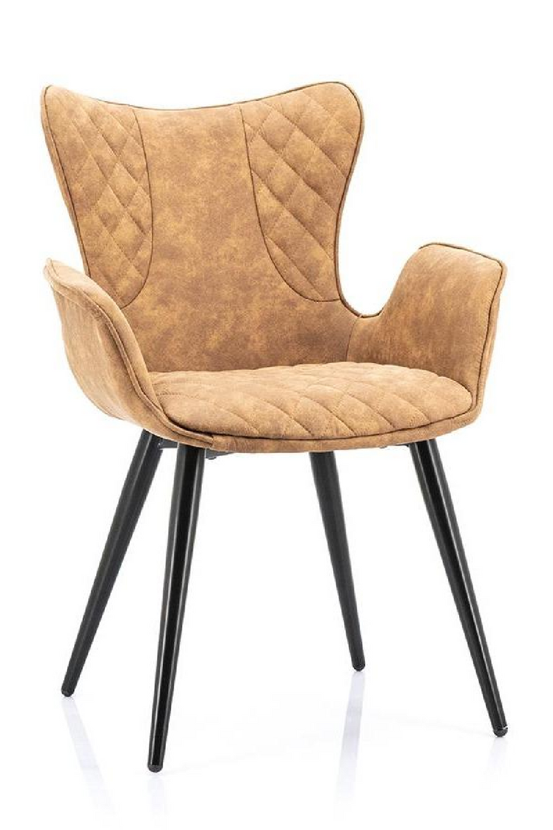 Cognac Upholstered Dining Chair | Eleonora Lenny | dutchfurniture.com