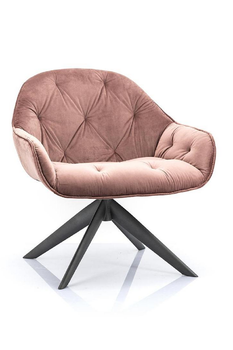 Pink Velvet Lounge Chair | Eleonora Joy | dutchfurniture.com