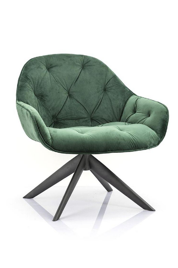 Green Velvet Lounge Chair | Eleonora Joy | Dutchfurniture.com