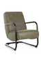 Olive Green Leather Chair | Eleonora Pien | dutchfurniture.com