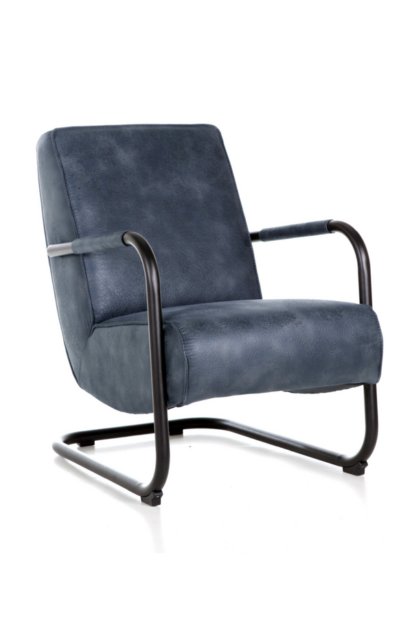 Deep Navy Leather Chair | Eleonora Pien | dutchfurniture.com
