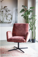 Fuchsia Velvet Accent Chair | Eleonora Vivian | dutchfurniture.com