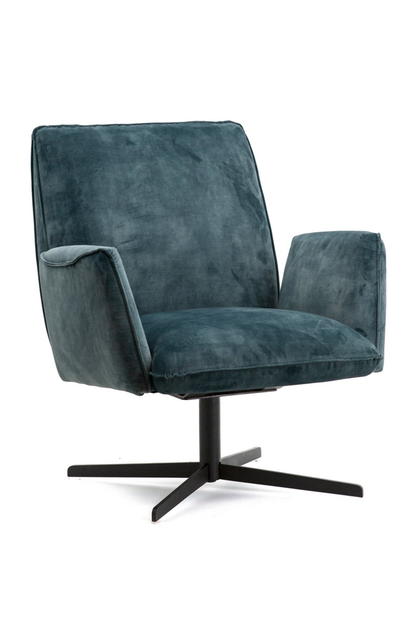 Teal Velvet Swivel Chair | Eleonora Vivian | dutchfurniture.com