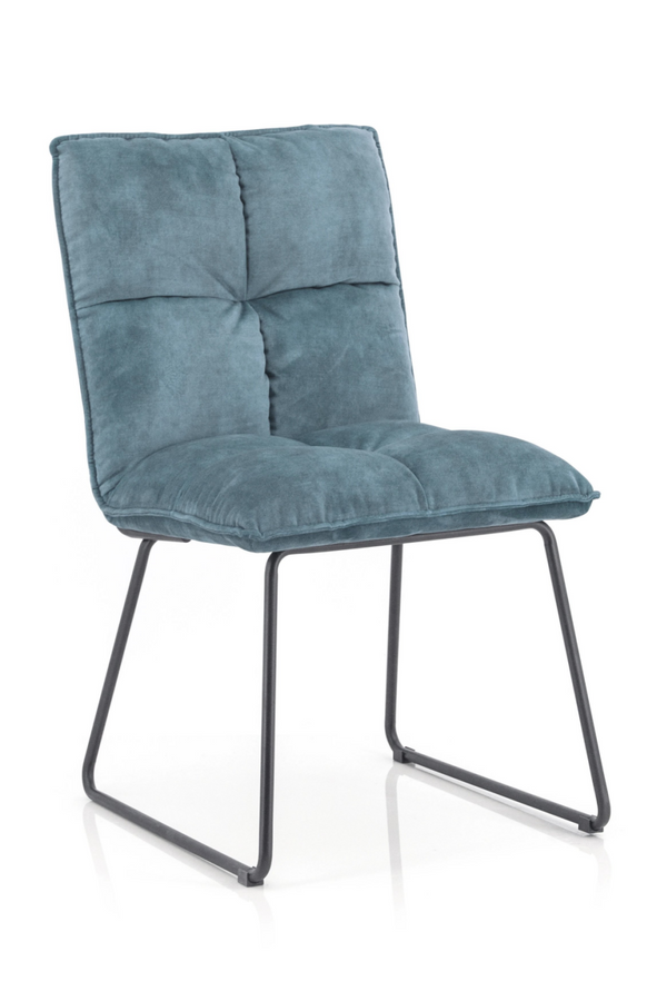 Teal Upholstered Dining Chair | Eleonora Ruby | dutchfurniture.com