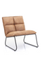 Cognac Upholstered Lounge Chair | Eleonora Ruby | dutchfurniture.com