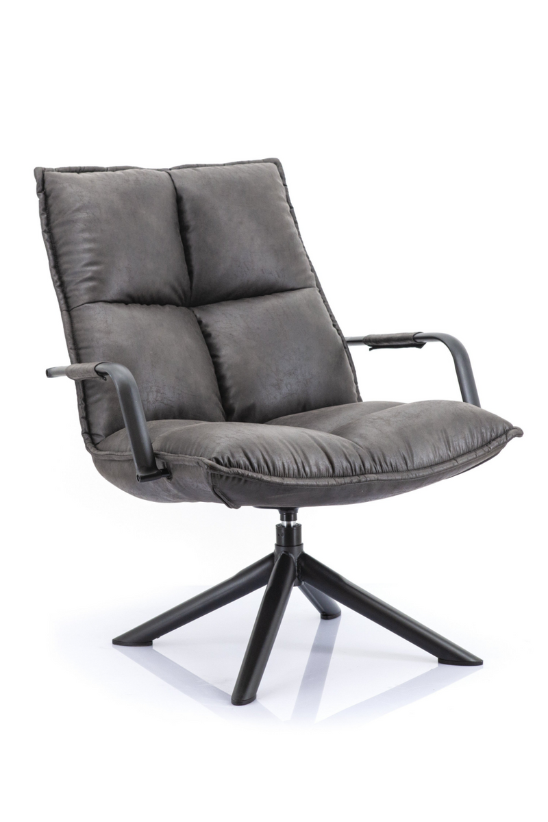 Dark Grey Lounge Chair | Eleonora Mitchell | dutchfurniture.com
