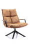 Cognac Swivel Lounge Chair | Eleonora Mitchel | dutchfurniture.com