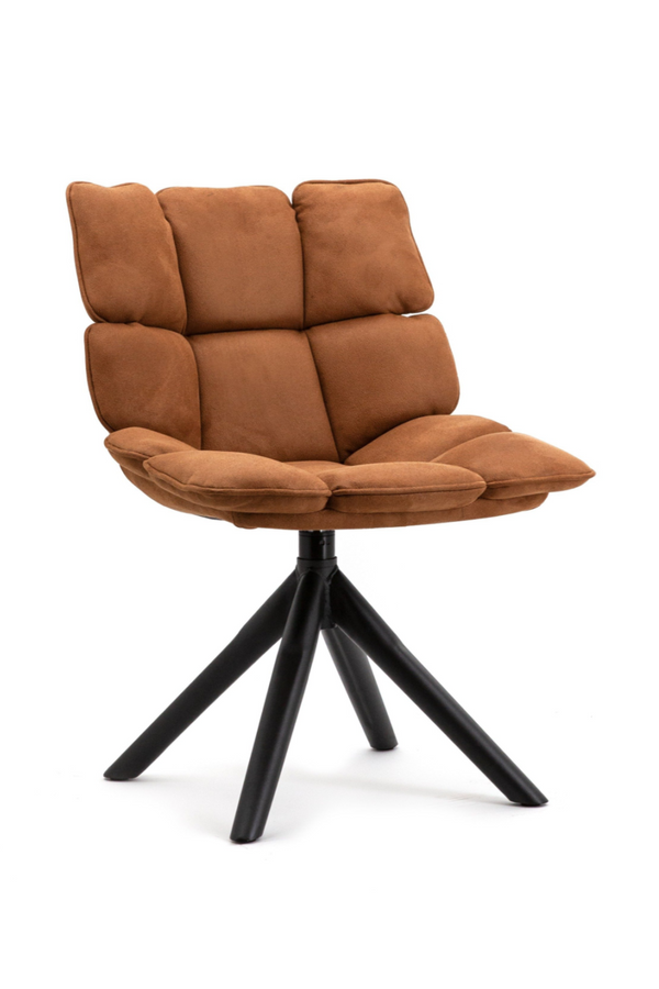 Cognac Swivel Dining Chair | Eleonora Daan | dutchfurniture.com