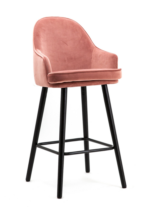 Fuchsia Velvet Counter Stool | Eleonora Barbara | dutchfurniture.com