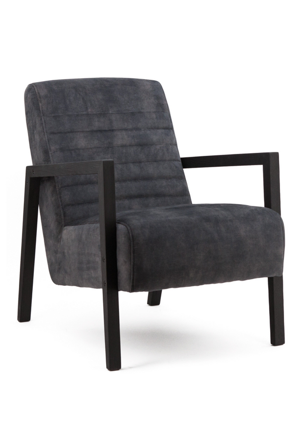 Dark Grey Velvet Armchair | Eleonora Lars | dutchfurniture.com