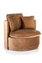 Cognac Velvet Barrel Lounge Chair | Eleonora Julia | dutchfurniture.com