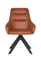 Cognac Upholstered Dining Chair | LABEL51 Jace | DutchFurniture.com