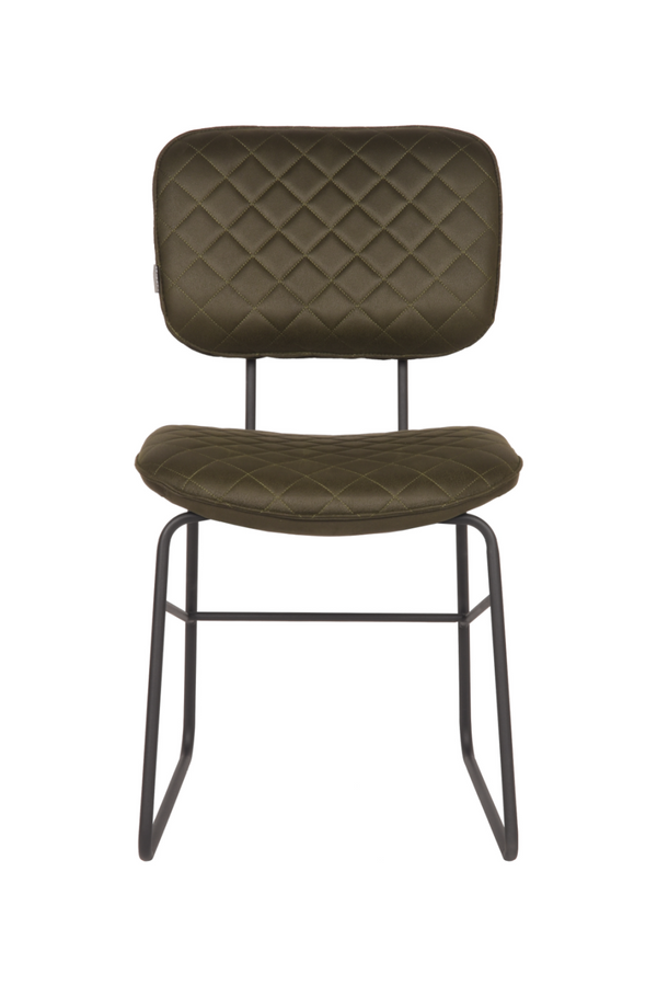 Army Green Upholstered Dining Chair | LABEL51 Sev | DutchFurniture.com