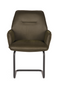 Army Green Upholstered Dining Chair | LABEL51 Boet  | DutchFurniture.com