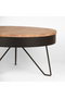 Round Wooden Black Coffee Table | LABEL51 Saran