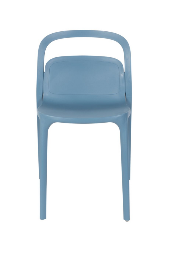 Blue Molded Dining Chairs (2) | DF Lex | DutchFurniture.com