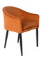 Orange Velvet Armchair | DF Catelyn | DutchFurniture.com