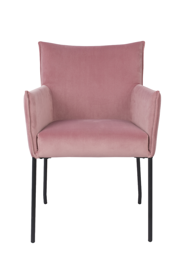 Pink Velvet Armchair | DF Dion | DutchFurniture.com