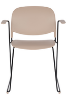 Beige Dining Chairs With Arms (4) | DF Stack | Dutchfurniture.com