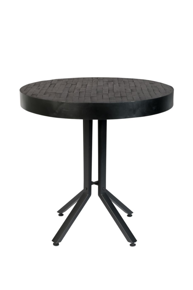 Black Teak Bistro Table | DF Maze | DutchFurniture.com