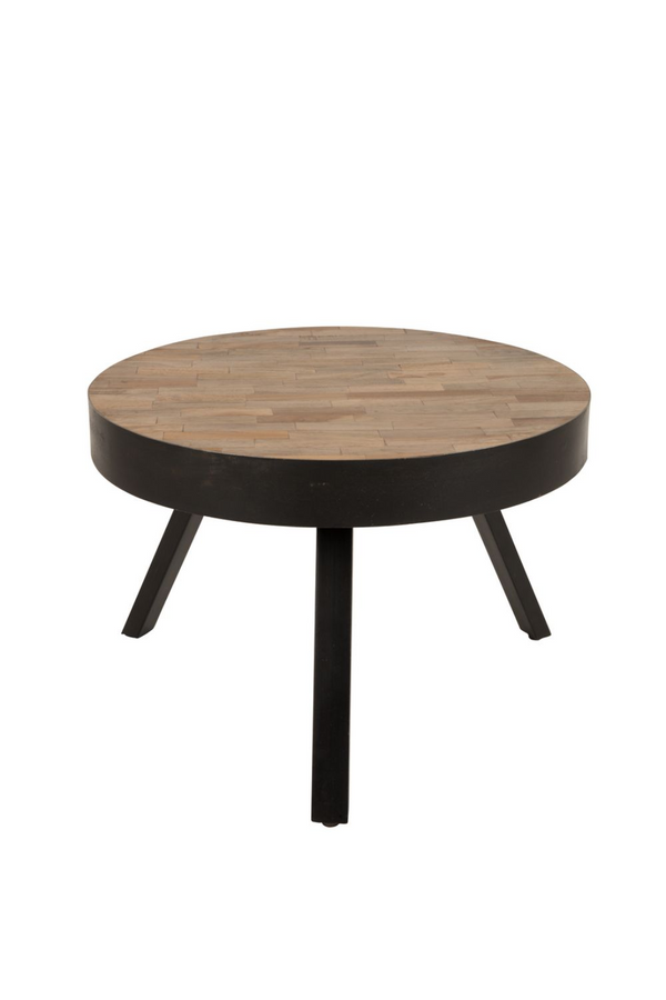 Round Teak Coffee Table - M | DF Suri | DutchFurniture.com